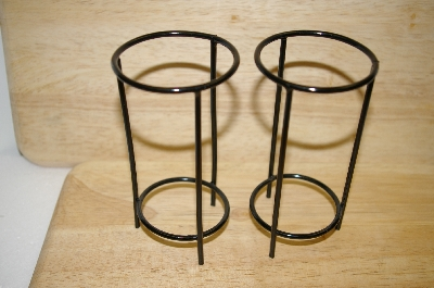 +MBA #14-127  Set Of 2 Black Metal Large Egg Stands