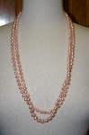 "**MBA #16-677  30"" Strand Pink Glass Pearls"