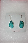 **MBA #16-657  Beautiful Blue Turquoise Artist Signed Earrings