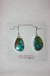 **MBA #16-660  Beautiful Blue Turquoise Artist Signed Earrings