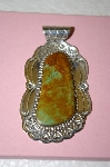 **MBA #16-627  Green Turquoise Sterling Pendant