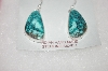 **MBA #16-666  Blue Artist Signed Turquoise Earrings