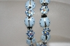 Set Of 2 Stretch Hand Enameled Blue Crystal Lady Bug Bracelets