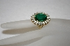 **MBA #16-531  Antique Faux Emerald Ring