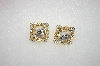 "**MBA #16-559  ""Coksana"" Clear Crystal Clip On Earrings"