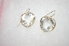 **MBA #16-575 14K Fancy Cut  Clear Quartz Heart Earrings