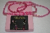 "**MBA #16-616  ""Buck Hill"" Swarovski Pink Crystal 4 Piece Set"