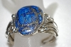 "**MBA #16-216  MBA #16-216  ""Artist Signed Blue Lapis Hand Made Cuff Bracelet"