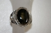 **MBA #16-370  Hand Made Black Obsidian Sterling Cuff Bracelet