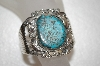 **MBA #16-318  Blue Turquoise Hand Made Sterling Cuff Bracelet