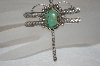 "**  MBA #16-160  ""Green Turquoise Fancy Artist Signed Dragonfly Pin"