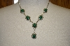 **MBA #16-097  Artist Signed Malachite Necklace & Matching Earrings