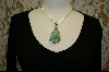 ** Artist Signed Green Turquoise Pendant