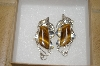 +MBA #16-265  Very Fancy Artist Signed Tiger Eye Earrings