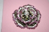 Pink Crystal Rose Brooch