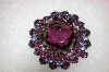 +MBA #16-477  Antique Purple Glass Brooch