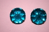 Schreiner New York Antique Green Glass Clip On Earrings