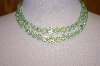 Green Crystal Double Row Necklace