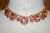 **MBA #16-414  Antique Pink Rhinestone Chocker
