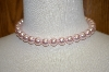**MBA #16-427  Single Strand Large Pink Glass Pearls
