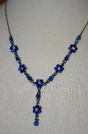 **MBA #16-420 Blue Crystal Necklace
