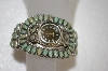 **MBA #16  Beautiful Artist Signed Green Turquoise Cuff Watch