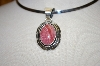 **MBA #16-116  Beautiful Artist Signed Rhodocroite Sterling Pendant