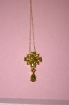 **MBA #16-518  Beautiful Citrine & Peridot 14K Pendant With Chain