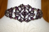 Vintage Look Purple Crystal Chocker