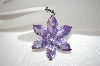 """SOLD""  Large Beautiful Lavender Cz Flower Pendant"