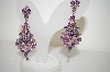 **MBA #17-439  Platinum Over Silver Amethyst & Ruby Earrings