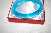 **MBA #17-223A  Rare Turquoise Blue Glass Bangle Bracelet