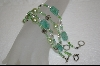 **Set Of 4 Green Beaded Bracelets