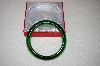 Rare Dark Green Glass Bangle Bracelet