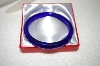 **MBA #17-230  Rare Dark Blue Glass Bangle Bracelet