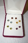 "**MBA #17-227   ""Set Of 5 14K Yellow Gold Gemstone Studs"