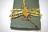 Fancy Gold Base Metal Enameled Dragonfly Pendant