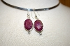 +MBA #17-037  Sterling Ruby Earrings