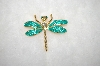 **MBA #17-045  Green Dragonfly Pin/Pendant Combo