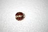 **MBA #17-073  Small Red & White Crystal Lady Bug Pin