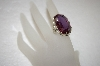 +MBA #17-664  Aintique Sterling Purple Stone Ring