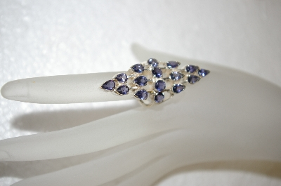 "**MBA #17-667    ""16 Stone Amethyst & Sterling Ring"