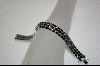 ** 3 Row 30ct Sapphire Sterling Bracelet