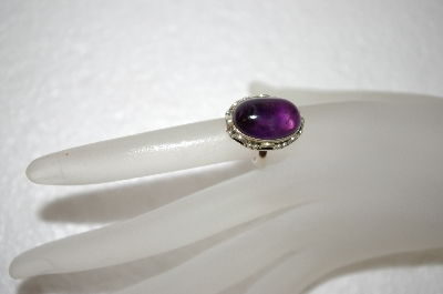 **MBA #17-679  Cabochon Amethyst Sterling Ring