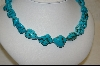 **  Dyed African Howlite Nugget Necklace