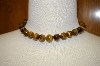 "**MBA #17-149  18"" Tiger Eye Large Bead Sterling Necklace"
