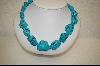 ** Large Dyed African Howlite Nugget Necklace