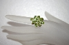 **MBA #17-263  9 Stone Oval Cut Peridot 14K Ring