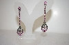 Two Shades Of Pink Crystal Drop Earrings
