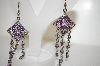Pink & Lavender Crystal Drop Earrings